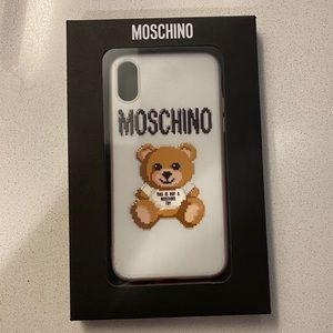 Moschino IPhone X Case with Teddy Print